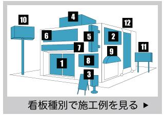 名古屋の看板制作アドバンスの看板種別施工例を見る